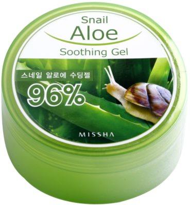 Missha Snail Aloe pomirjajoči in vlažilni gel z aloe vero s polžjim ekstraktom