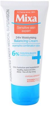 MIXA 24 HR Moisturising crema hidratante equilibrante con textura ligera para pieles normales y mixtas