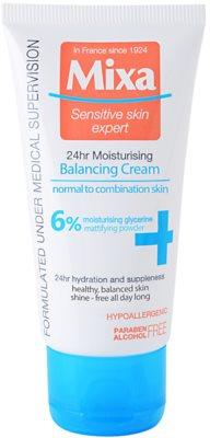 MIXA 24 HR Moisturising lahka uravnotežena vlažilna krema za normalno do mešano kožo