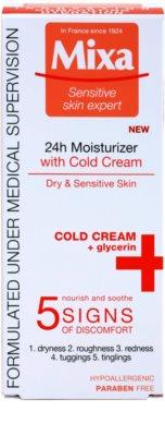 MIXA 24 HR Moisturising creme hidratante e nutritivo para apaziguamento e reforçamento da pele sensível 2