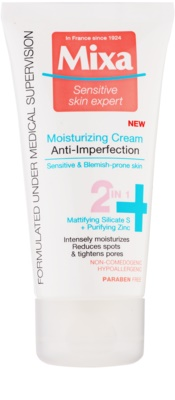 MIXA Anti-Imperfection hydratisierende Pflege gegen die Unvollkommenheiten der Haut