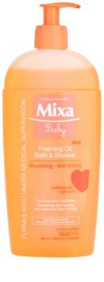 MIXA Baby пенесто олио за душ и вана