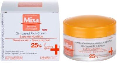 MIXA Extreme Nutrition обогатен крем с масло от вечерна иглика и овлажняващи съставки 2