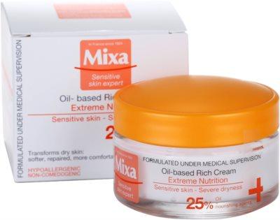 MIXA Extreme Nutrition обогатен крем с масло от вечерна иглика и овлажняващи съставки 3