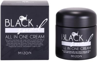 Mizon Black Snail crema pentru ten  cu extract de melc 90% 2