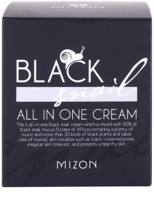 Mizon Black Snail crema pentru ten  cu extract de melc 90% 4