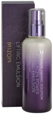 Mizon Intensive Firming Solution Collagen Power emulsie pentru curatare cu efect lifting 3
