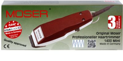Moser Pro Type 1411-0050 massagadores profissionais para cabelo 2