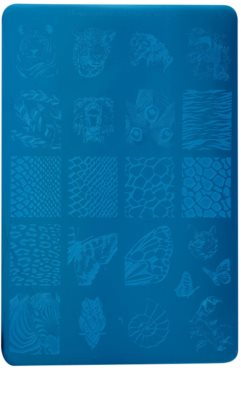 Moyra Nail Art Animalistic płytka z wzorkami do stempelka do paznokci