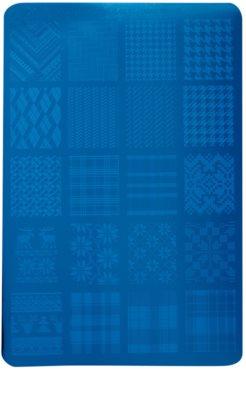 Moyra Nail Art Fabric Texture placa de carimbo para unhas