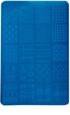 Moyra Nail Art Fabric Texture šablona z vzorčki za nohte