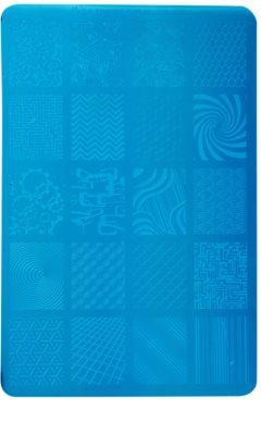 Moyra Nail Art Geometry płytka z wzorkami do stempelka do paznokci