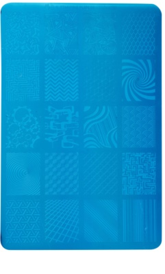 Moyra Nail Art Geometry Vorlagenplatte für Deko-Stempel für Nägel
