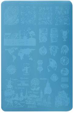 Moyra Nail Art Globetrotter Vorlagenplatte für Deko-Stempel für Nägel