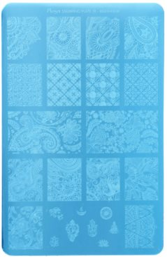 Moyra Nail Art Maharaja Vorlagenplatte für Deko-Stempel für Nägel