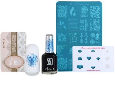Moyra Nail Art Nail Stamping lote cosmético IV.