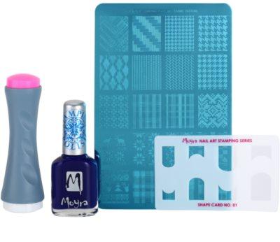 Moyra Nail Art Nail Stamping zestaw kosmetyków III.