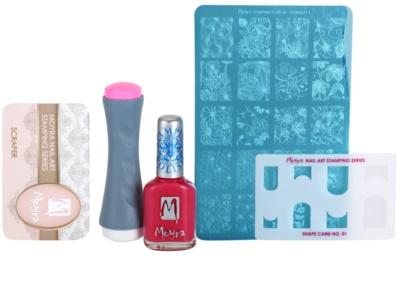 Moyra Nail Art Nail Stamping lote cosmético VI.