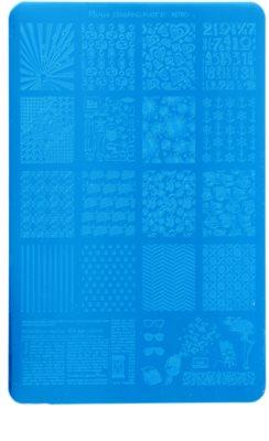 Moyra Nail Art Retro Vorlagenplatte für Deko-Stempel für Nägel