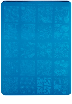 Moyra Nail Art Florality 1 Vorlagenplatte für Deko-Stempel für Nägel
