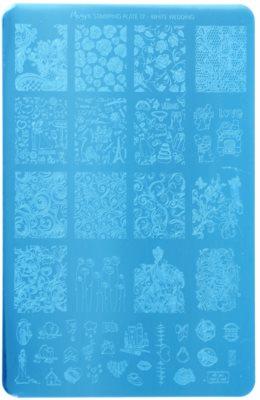 Moyra Nail Art White Wedding Vorlagenplatte für Deko-Stempel für Nägel
