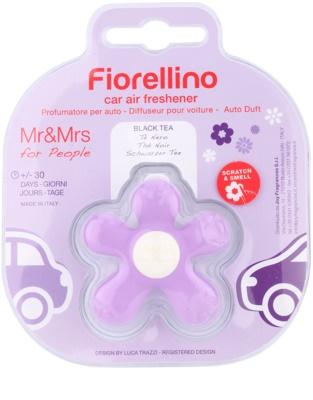 Mr & Mrs Fragrance Fiorellino Black Tea ambientador auto