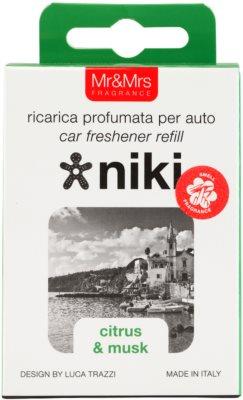 Mr & Mrs Fragrance Niki Citrus & Musk illat autóba   utántöltő 3