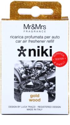 Mr & Mrs Fragrance Niki Gold Wood ambientador auto   recarga de substituição 2