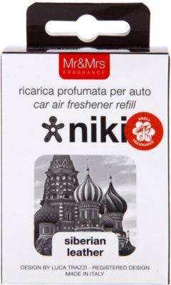 Mr & Mrs Fragrance Niki Siberian Leather odświeżacz do samochodu   napełnienie 3