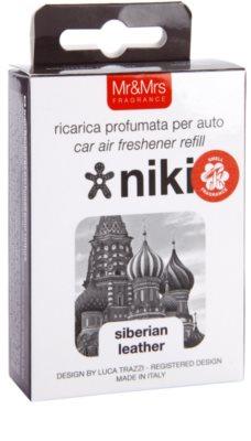 Mr & Mrs Fragrance Niki Siberian Leather odświeżacz do samochodu   napełnienie 1