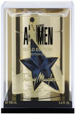 Mugler A*Men Gold Edition eau de toilette férfiaknak  utántölthető Metal Flask
