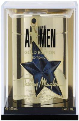 Mugler A*Men Gold Edition Eau de Toilette pentru barbati  reincarcabil Metal Flask
