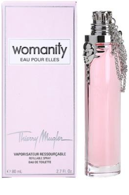 Mugler Womanity Eau pour Elles toaletní voda pro ženy  plnitelná