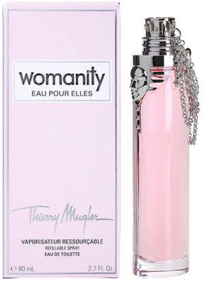 Mugler Womanity Eau pour Elles woda toaletowa dla kobiet  napełnialny