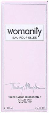 Mugler Womanity Eau pour Elles Eau de Toilette pentru femei  reincarcabil 6
