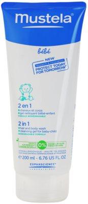 Mustela Bébé Bain żel i szampon pod prysznic 2 w 1 dla dzieci