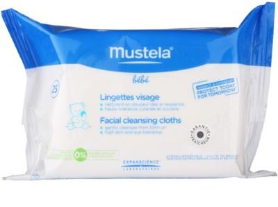 Mustela Bébé Toillete tisztító törlőkendő az arcra