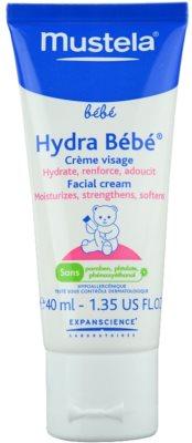 Mustela Bébé Hydra Bébé crema facial hidratante   para bebé lactante