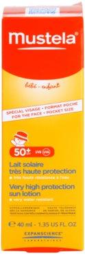 Mustela Solaires schützende Gesichtscreme SPF 50+ 3