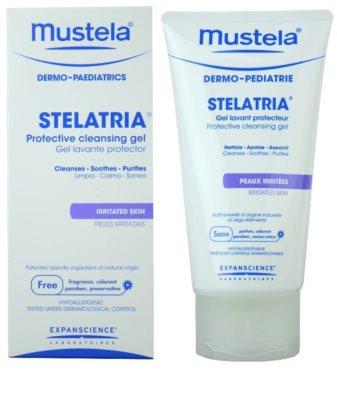 Mustela Dermo-Pédiatrie Stelatria захисний очищуючий гель для подразненої шкіри 1