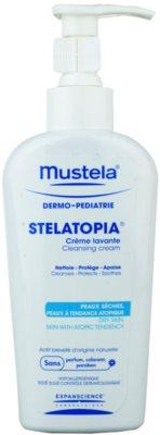 Mustela Dermo-Pédiatrie Stelatopia tisztító krém nagyon száraz, érzékeny és atópiás bőrre