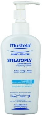 Mustela Dermo-Pédiatrie Stelatopia очищуючий крем для дуже сухої та чутливої, атопічної шкіри