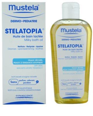 Mustela Dermo-Pédiatrie Stelatopia óleo de banho para pele sensível e atópica 1