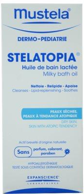 Mustela Dermo-Pédiatrie Stelatopia fürdő olaj nagyon száraz, érzékeny és atópiás bőrre 2
