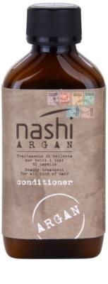 Nashi Argan condicionador hidratante com óleo de argão e de  linhaça para todos os tipos de cabelos