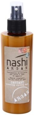 Nashi Argan máscara de hidratação e styling com óleo de argão e de linhaça para todos os tipos de cabelos