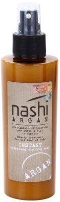 Nashi Argan okamžitá hydratační stylingová maska s arganovým a lněným olejem pro všechny typy vlasů