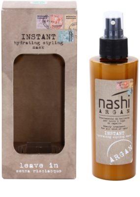 Nashi Argan незабавно хидратираща и стилизираща маска с арганово и ленено масло за всички видове коса 2