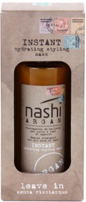 Nashi Argan незабавно хидратираща и стилизираща маска с арганово и ленено масло за всички видове коса 3
