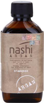 Nashi Argan champô hidratante com óleo de argão e de linhaça para todos os tipos de cabelos